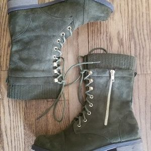Shoes - Lace up Combat style boots